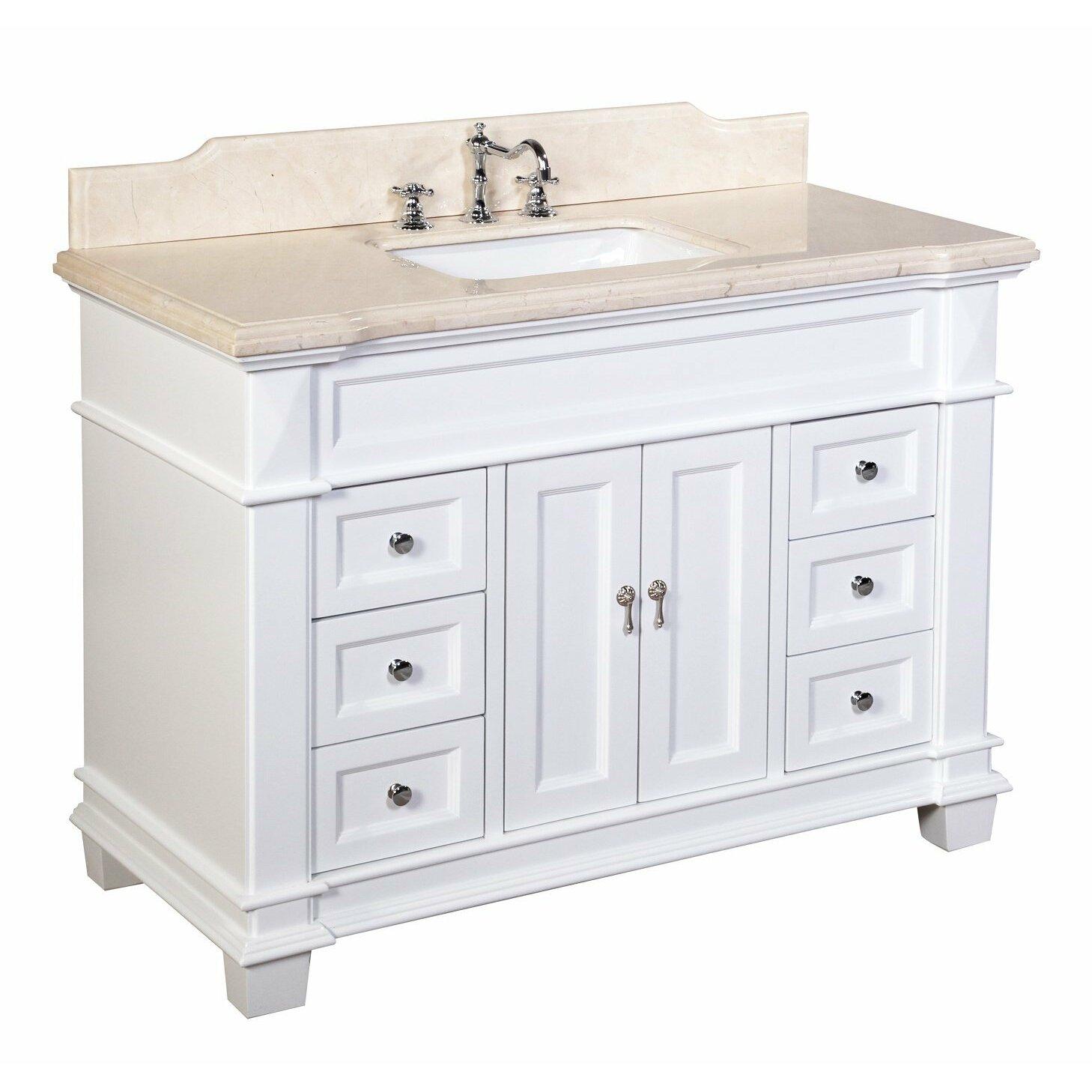 """KBC Elizabeth 48"""" Single Bathroom Vanity Set & Reviews"""