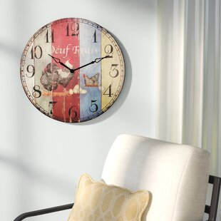 office large size floor clocks wayfair. Oversized Adam 24\u0027\u0027 Round Wood Wall Clock Office Large Size Floor Clocks Wayfair F
