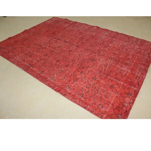 Vintage Hand-Knotted Red Area Rug