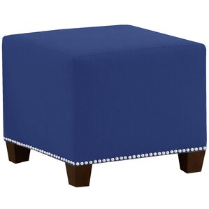 Square Nail Button Ottoman by Skyline Furniture