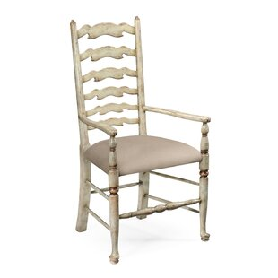 Painted Ladder Solid Wood Dining Chair (Set of 2)