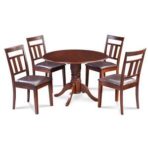 Chesterton 5 Piece Mahogany Dining Set by Alcott Hill