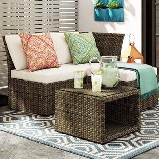 2 Sitzer Lounge Set Loft Aus Polyrattan Mit Polster