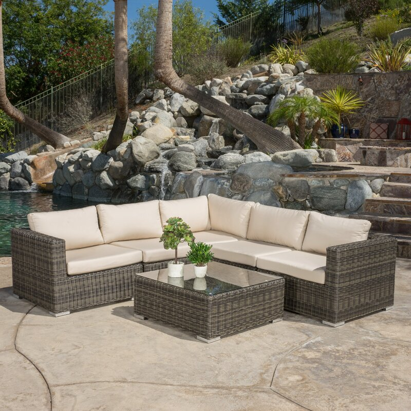Great Vanbuskirk 6 Piece Seating Group With Sunbrella Cushion