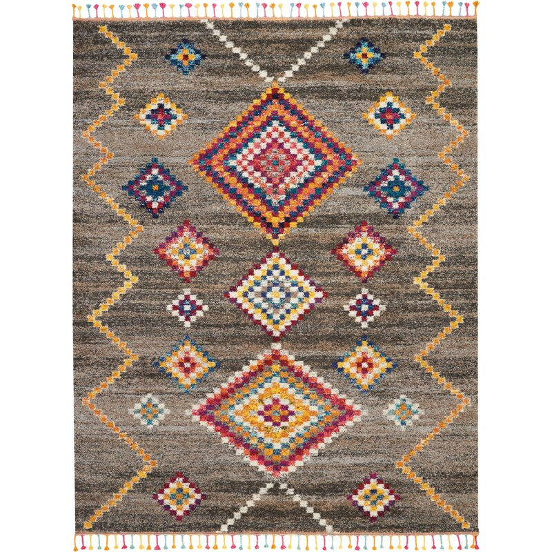 Bungalow Rose Wayne Moroccan Tribal Gray Beige Area Rug Reviews Wayfair