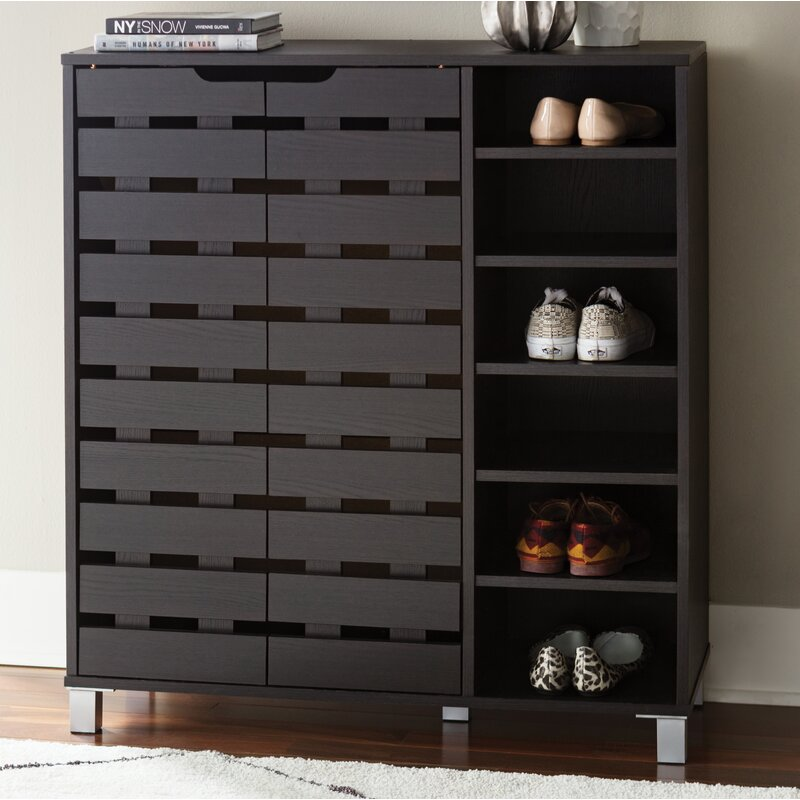 24 Pair Shoe Storage Cabinet