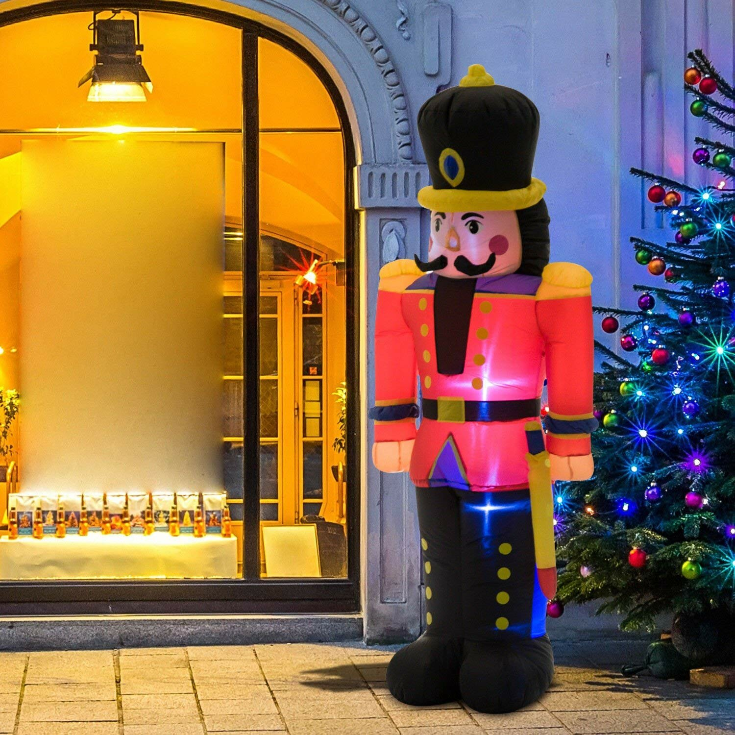 The Holiday Aisle Nutcracker Toy Soldier LED Lighted Outdoor Air Blown Christmas Inflatable & Reviews   Wayfair.ca