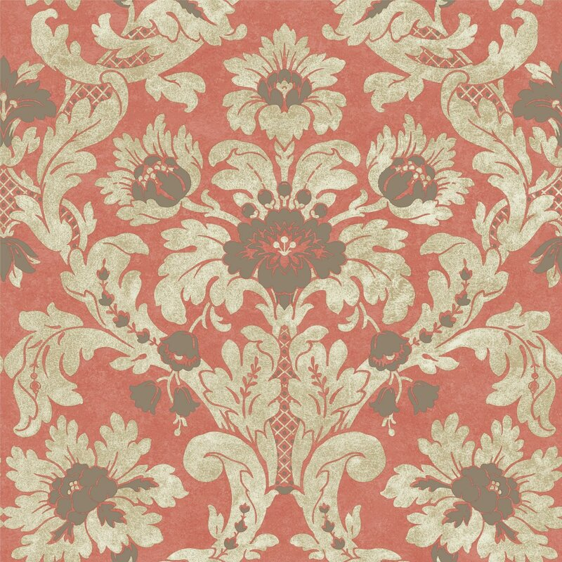 "Legacy Victoria 33' L x 20.5"" W Damask Wallpaper Roll"