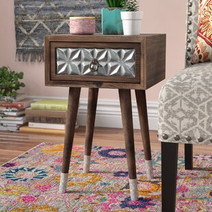 Merveilleux Hendrix 1 Drawer Wood Iron End Table