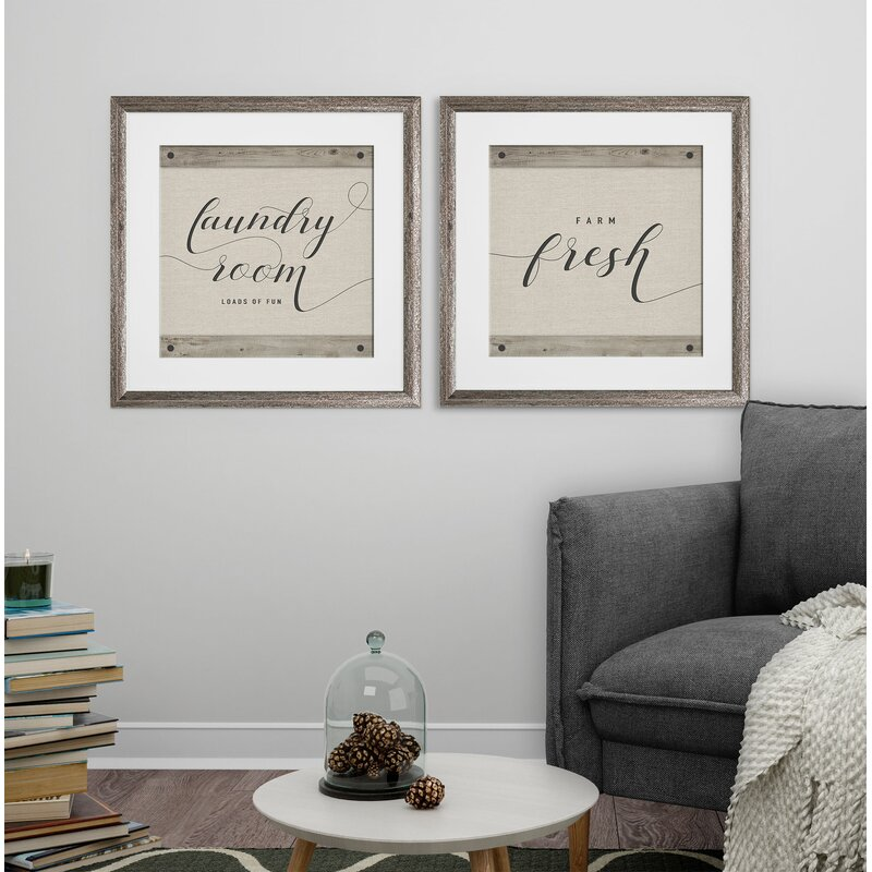 Laundry Room 2 Piece Framed Graphic Art Print Set