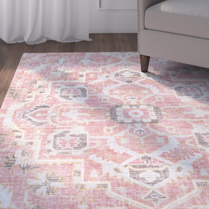 Wayfair All Modern: Fields Pink Area Rug & Reviews