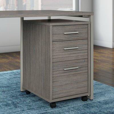 Method 3 Drawer Mobile Vertical Filing Cabinet Bush Business Furniture Finish: Cocoa