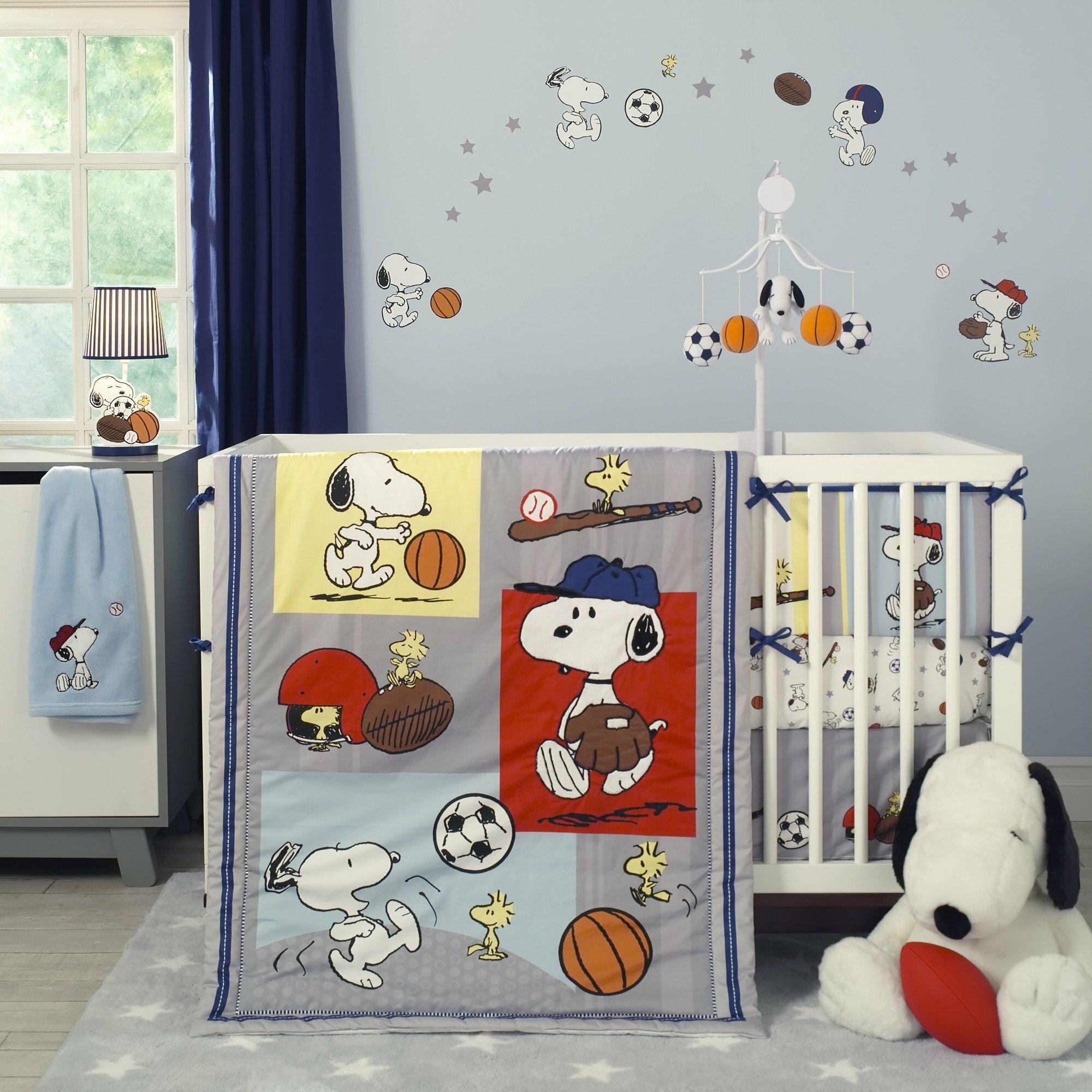 Bedtime Originals Snoopy Sports 3 Piece Crib Bedding Set Wayfair