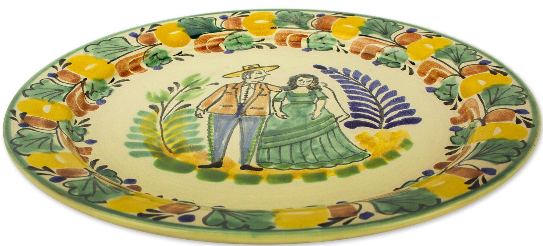 Fleur De Lis Living David Colonial Couple Majolica Ceramic ...