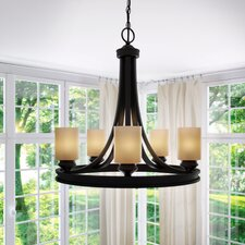 Fawnia 5-Light Shaded Chandelier