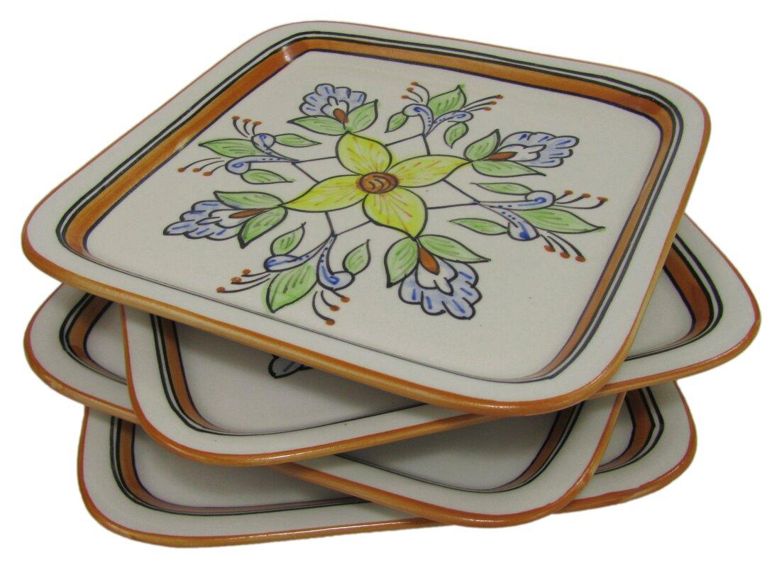 Salvena Square Stoneware 9\  Dinner Plate  sc 1 st  Wayfair & Le Souk Ceramique Salvena Square Stoneware 9\