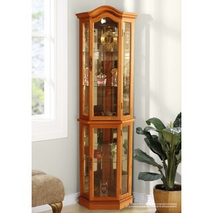 Brumunddal Lighted Corner Curio Cabinet