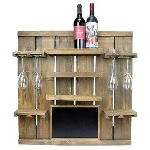 Rico Chalkboard 3 Bottle Wall Mounted Wine Rack Spacial Price
