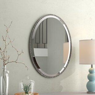 Oval Polished Nickel Wall Mirror