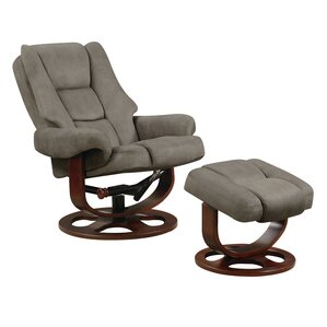 Haeli Lounge Chair and Ottoman by Red Barrel..