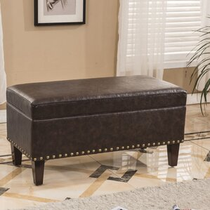 Traditional Storage Ottoman by Bellasario Collection