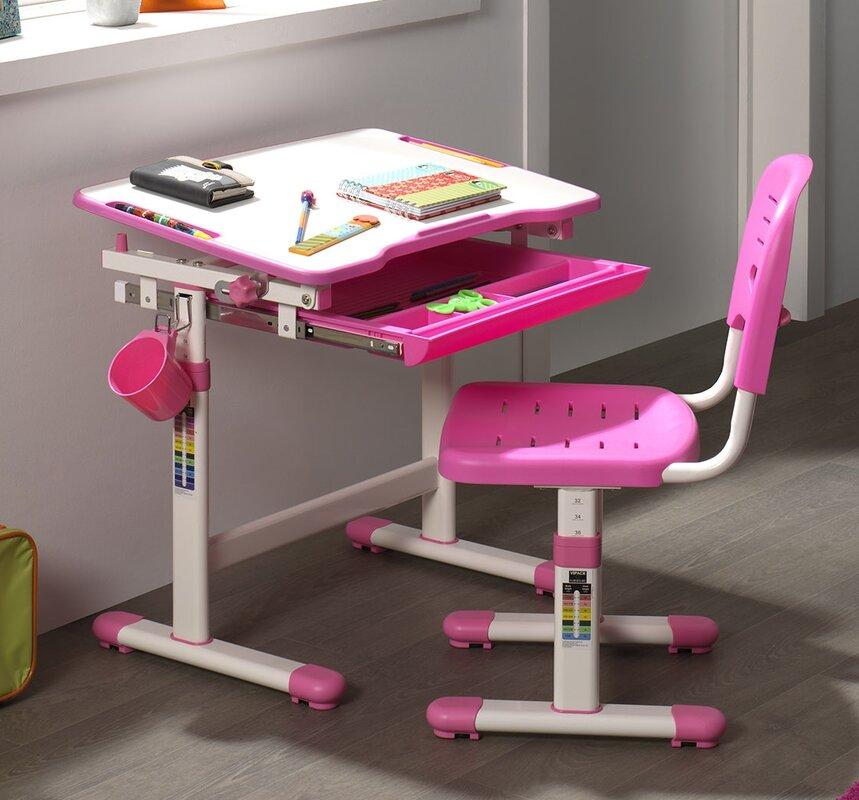vipack 67 cm schreibtisch und stuhl set comfortline. Black Bedroom Furniture Sets. Home Design Ideas