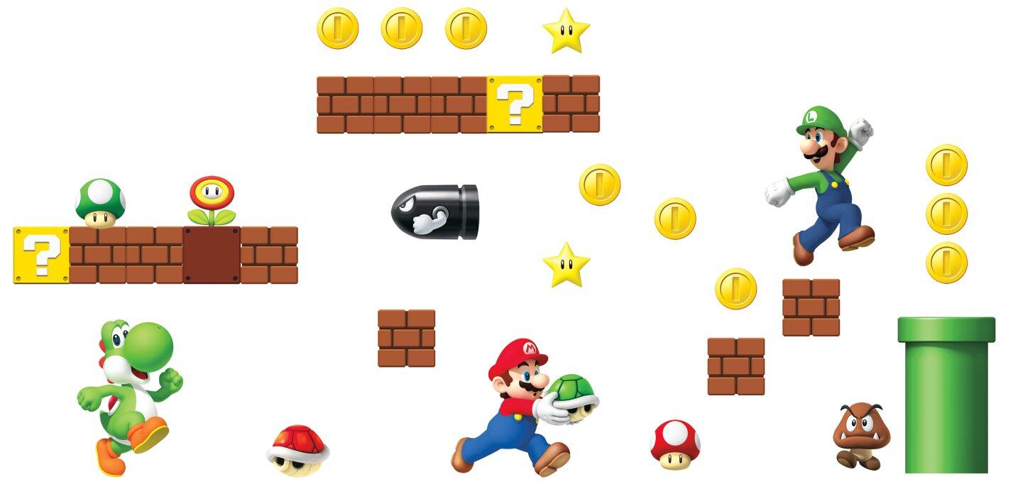 Nintendo 45 Piece Super Mario Wall Decal Part 34