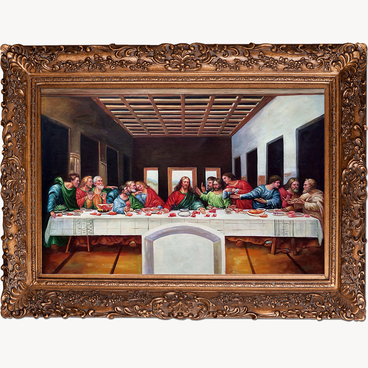 La Pastiche \'The Last Supper\' by Leonardo Da Vinci Framed Painting ...