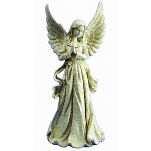 Standing Angel With Wings Up Statue
