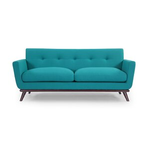 Luther Mid Century Modern Vintage Sofa with Flared Arms by Corrigan Studio