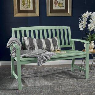 Indoor Wooden Bench With Back   Wayfair
