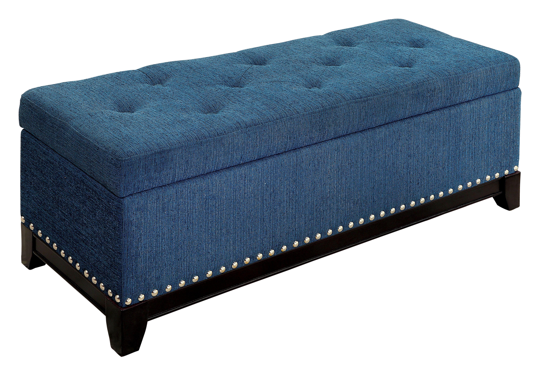 Latitude Run Warner Robins Upholstered Storage Bench Reviews Wayfair
