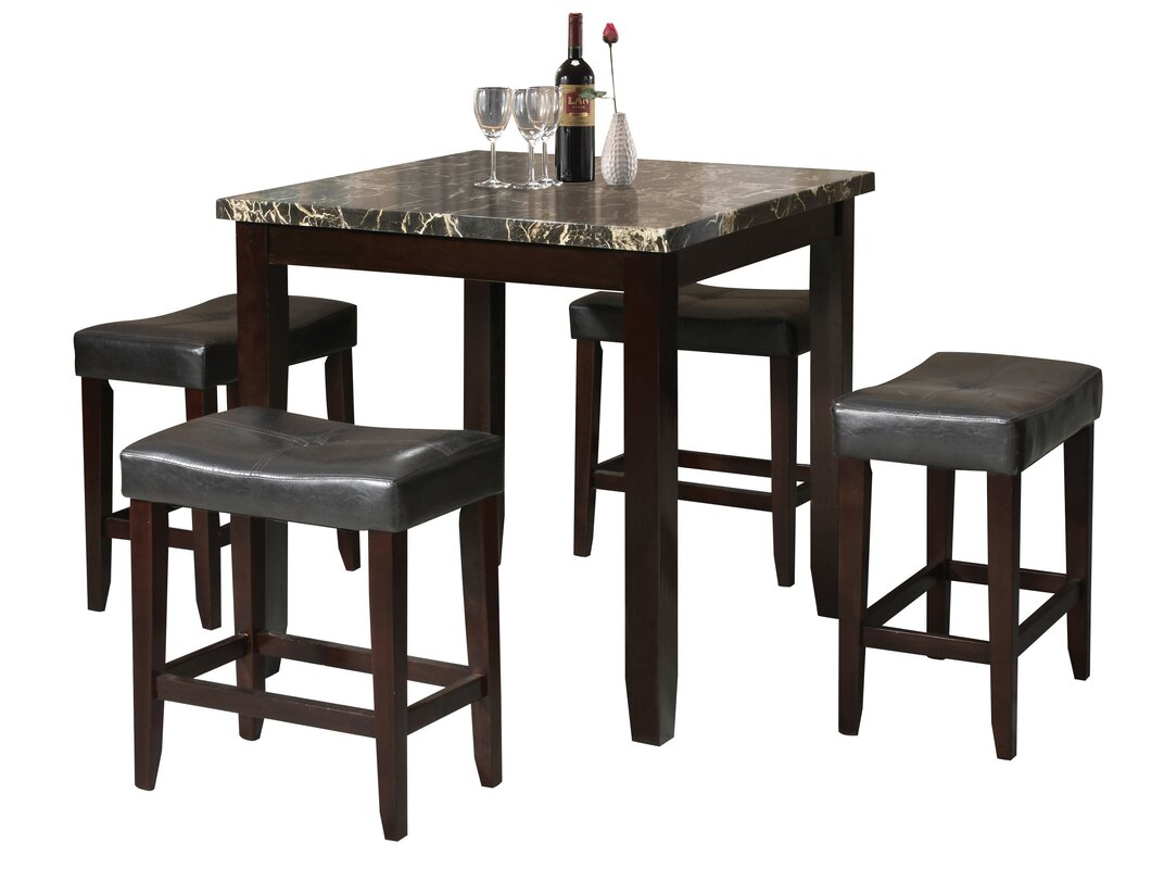 p black height amaretto cabrillo coaster counter dinset set co furniture chairs dining chair