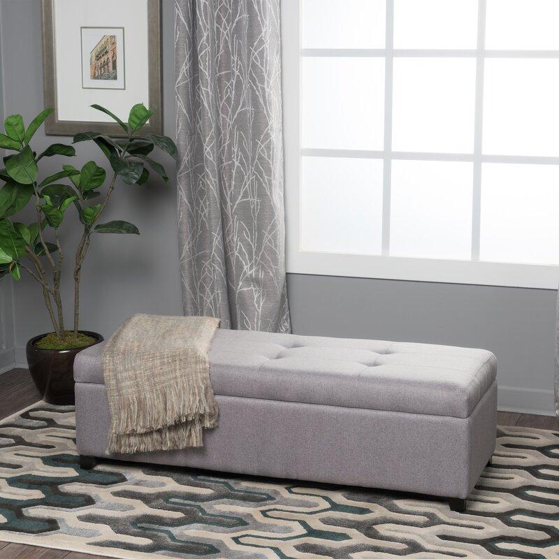 Brayden Studio Lachesis Upholstered Storage Bench & Reviews | Wayfair