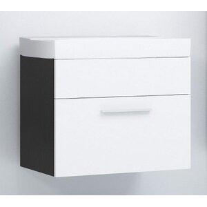 dCor design 60 cm Wandmontierter Waschtisch Lupo