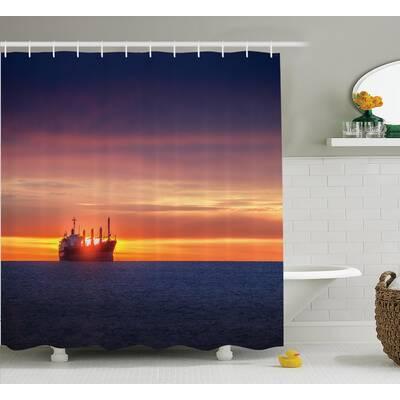 Sunrise Horizon Nautical Decor Shower Curtain