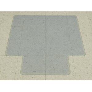 plastic hard floor beveled chair mat