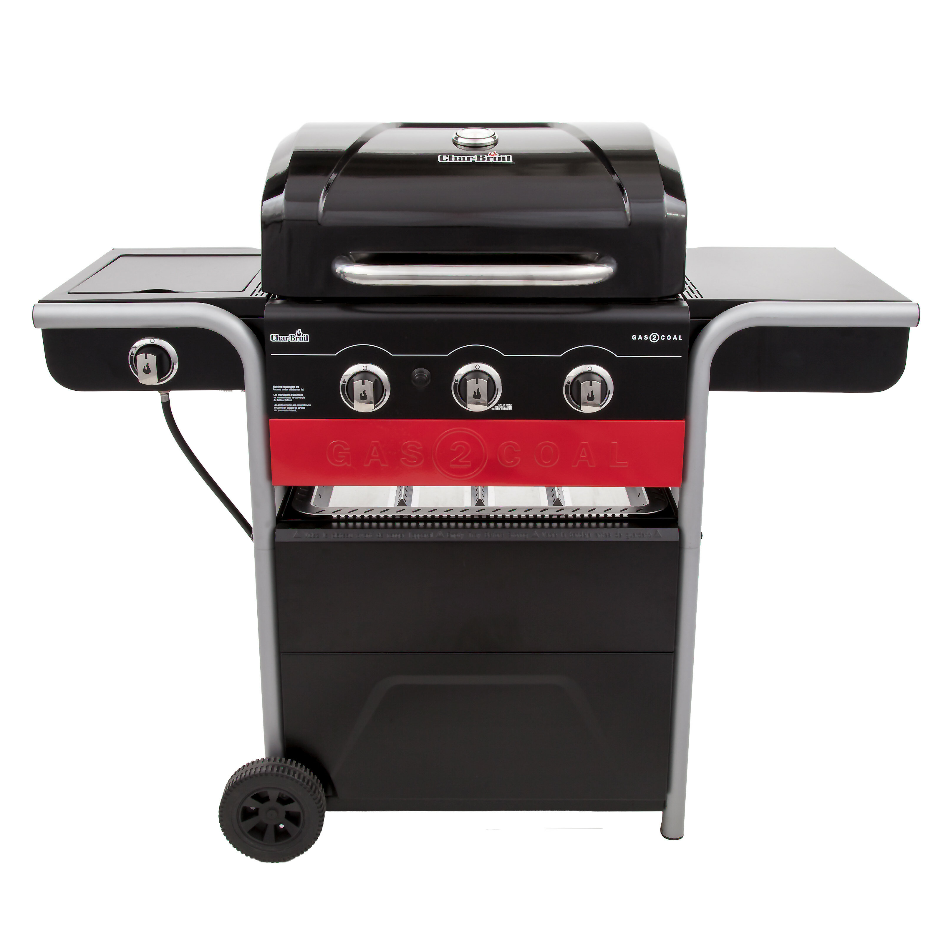 Charbroil Gas2coal Charcoal And 3 Burner Propane Gas Grill Reviews Wayfair