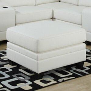 Corner Unit Leather Ottoman by Monarch Specialties Inc.