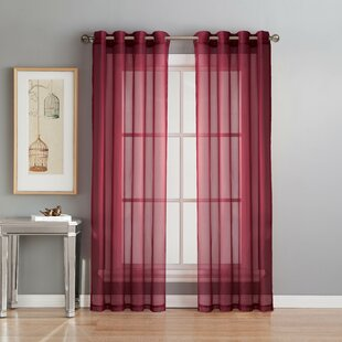 Teal And Red Curtains