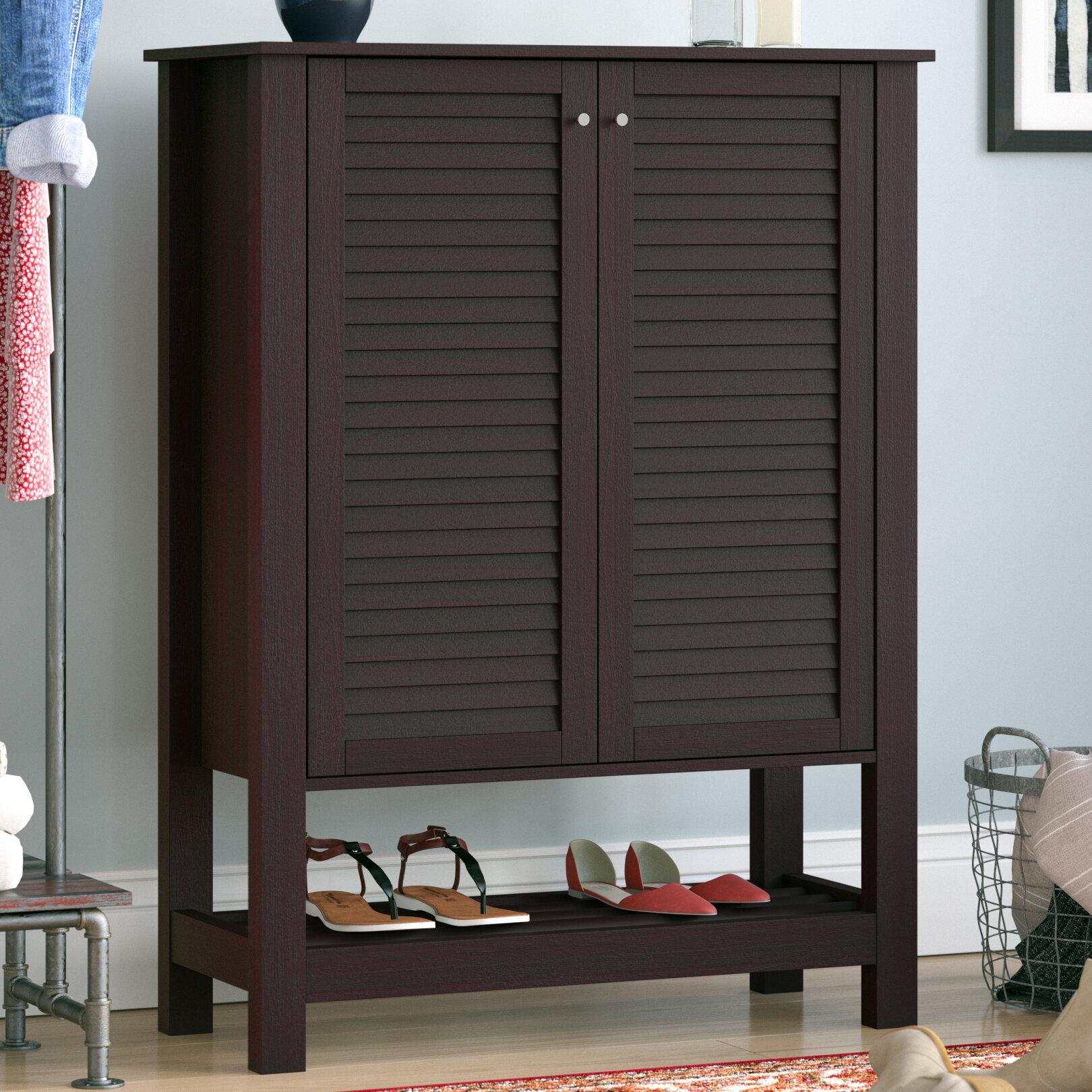 15 Pair Mdf Shoe Storage Cabinet Reviews Birch Lane