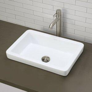Classically Redefined Ceramic Rectangular Vessel Bathroom Sink