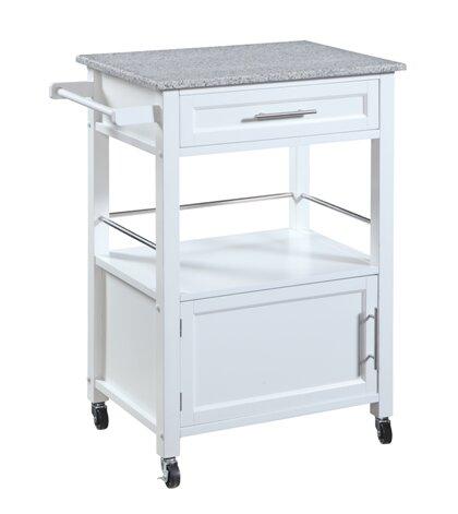 Fraizer Kitchen Cart With Granite Top