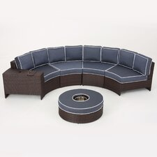 Bischof 6 Piece Sectional Seating Group with Ice Bucket Ottoman