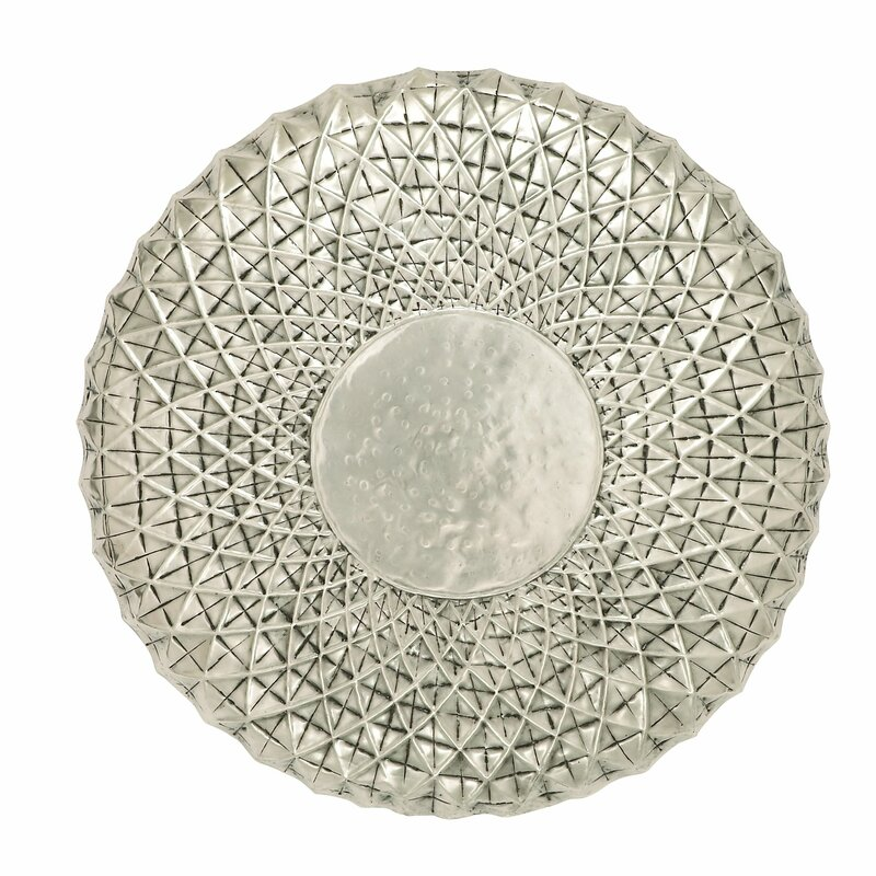 Metal Circle Wall Decor mercury row silver metal wall decor & reviews | wayfair