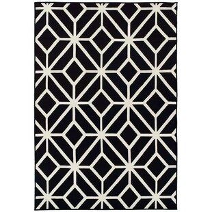pleione black indooroutdoor area rug - Black And White Rug
