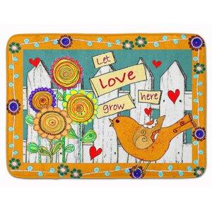 Let Love Grow Here Memory Foam Bath Rug