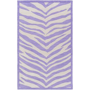 Best Alvin Hand-Tufted Violet/Ivory Area Rug By Zoomie Kids