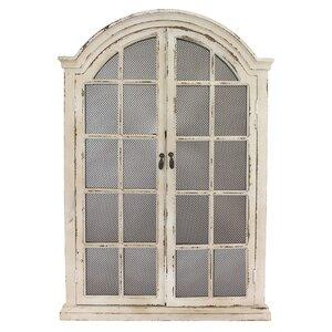 window cream wood wall mirror - Window Frame Mirror