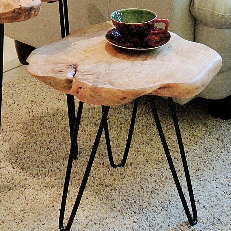 Nice Cedar Wood End Table
